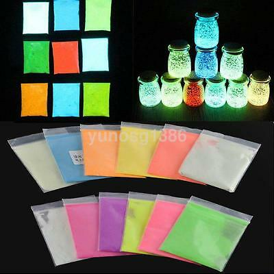 10g Glow In The Dark Dust Fluorescent Glitter Powder Bright Pigment Tattoo Paint - Glow In Dark Tattoo