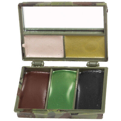 Ejército Caza Militar Camuflaje Crema Cara Pintura 5 Colores Con Espejo Woodland