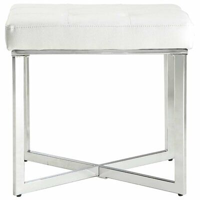 Summer Vanity Bench White Chrome