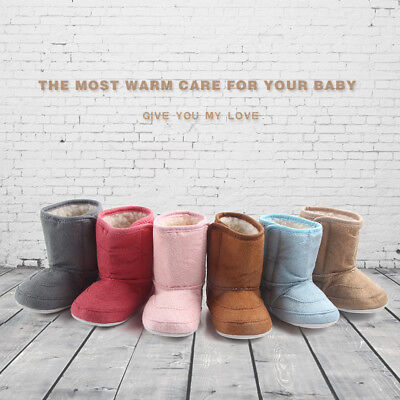 Baby Soft Crib Sole Warm Snow Boots Toddler Newborn Grils Boys Anti-slip Shoes