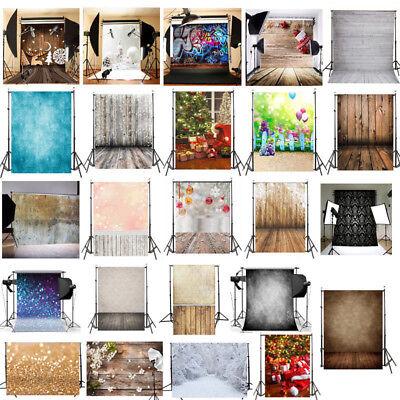 3x5FT Multi-Types Christmas Tree Fireplace Photography Backdrop Photo Background - Christmas Backdrops