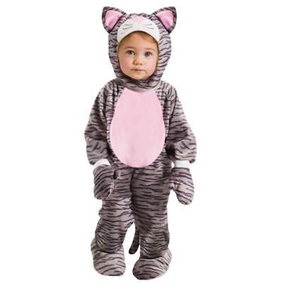 Toddler Grey Striped Kitten Animal Costume 3T-4T - Kitten Costume Toddler