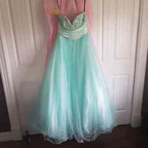 Mint green/blue graduation dress St. John's Newfoundland image 1