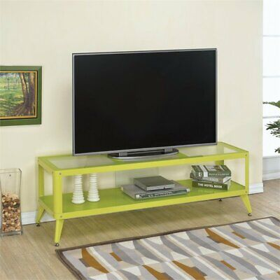 "Furniture of America Elton Modern Metal 60"" TV Stand in Apple Green"