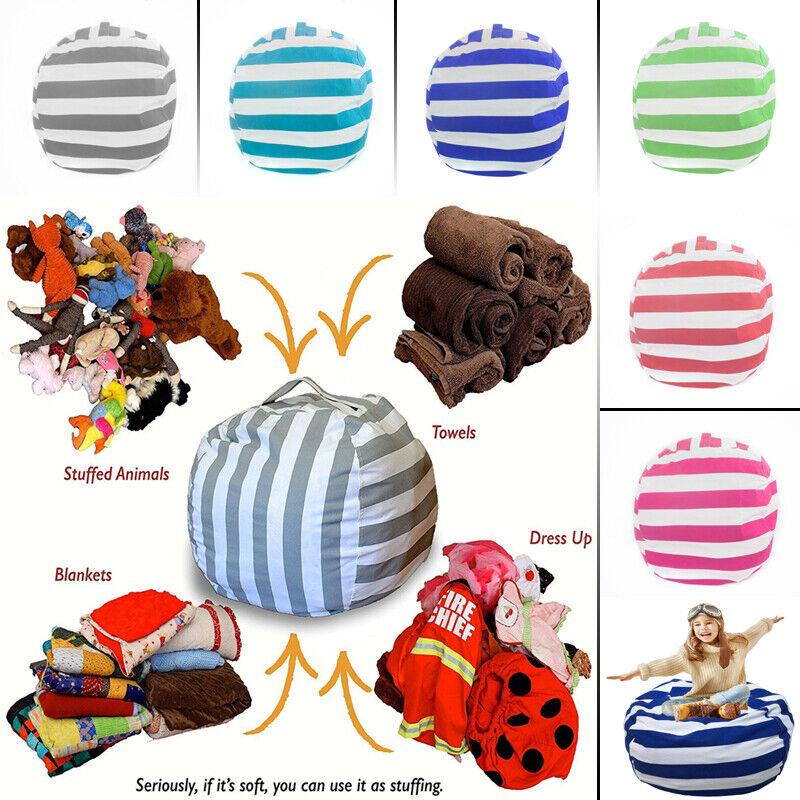 large Stuffed Animal Toy Storage Bean Bag Cover Kids Bean Bag Chairs Kids Gifts