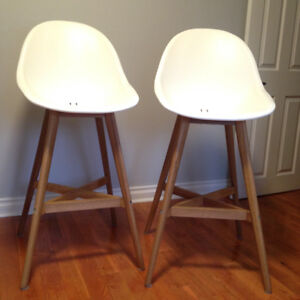 Bar stools/chairs with backrest SET -great condition+stylish