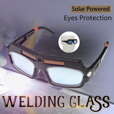 Solar Powered Automatic Darkening Protection Welding Welder Sunglasses Glasses