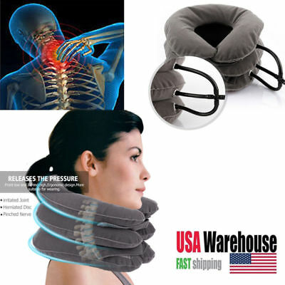 Neck Massager Brace Support Cervical Collar Air Traction Therapy Device USA Cervical Collar Neck Brace