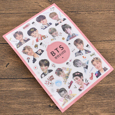 Cute Kpop Star BTS BANGTAN BOYS Transparent Stickers DIY Album Scrapbooking Gift