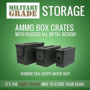Military-Grade Tool Storage - 3-piece Ammo Crate Set