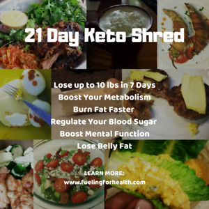 Lose up to 10 lbs in 1 week on our 21 Day Keto Shred