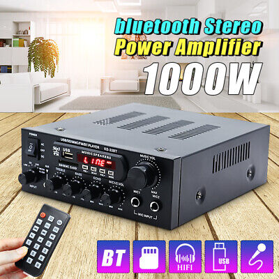 d3a9f80aae0c 1000 Watts 2CH 110V bluetooth Amplifier HiFi Audio Receiver Mixing Home  Theater