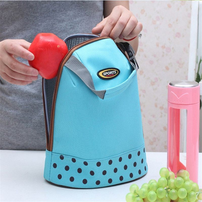 Thermal Thicker Bag Women's Insulated Lunch Box Picnic Sport