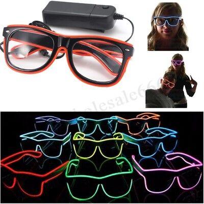Leuchtende EL Wire Neon LED Licht bis Glow Shades Sonnenbrillen für