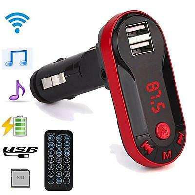 Car Mp3 Audio Wireless System Lighter Bluetooth USB TF SD Mmc Lcd Remote Phone