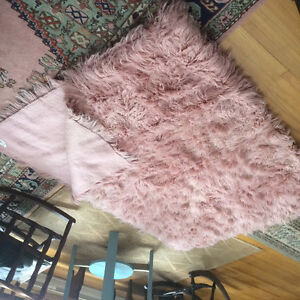Lovely and full pink Fokati 6x8 carpet/rug from Greece