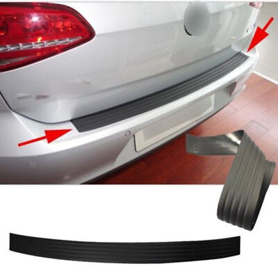 35 Black Car Rear Bumper SillProtector Plate Rubber Cover Pad Moulding Trim US