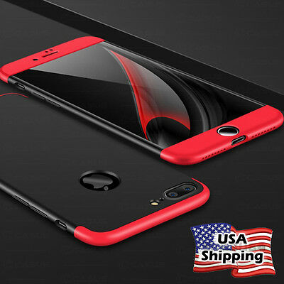 Slim Hybrid Shockproof Armor Hard Thin Case Back Cover for iPhone X & 8/7/6 Plus