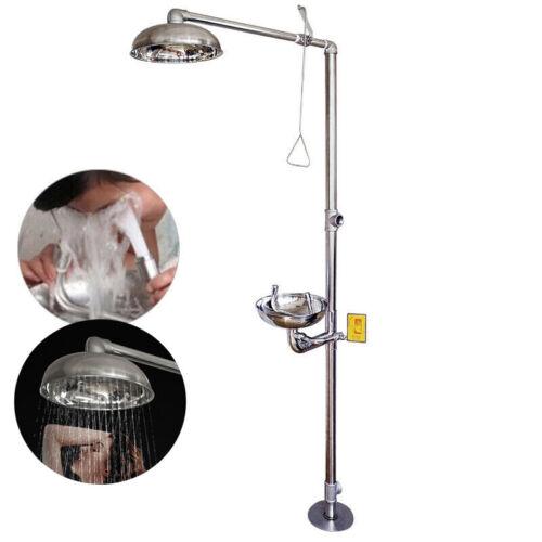 Stainless Steel Emergency Eyewash Shower Station Emergency Shower System Eye 1
