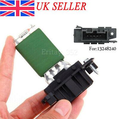 Motor Resister For Vauxhall Corsa D Heater Resistor Blower Cabin 13248240