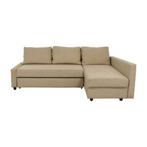 IKEA FRIHETEN Beige sofa bed with extra storage