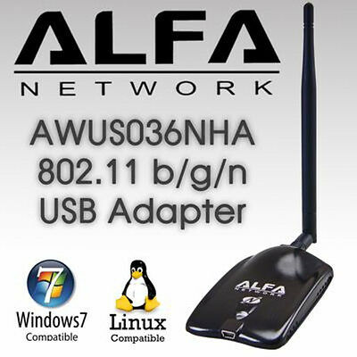 ALFA AWUS036NHA 802.11n Wireless-N Wi-Fi Adapter  Low Buffer