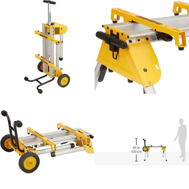 DEWALT Table Saw Stand Wheels Rolling DW7440RS Folding Quick