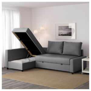 L Shaped couch with large deep storage