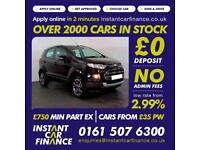 Ford Ecosport Titanium 1.0 Manual Petrol GOOD/BAD CREDIT CAR FINANCE