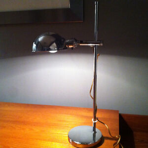 Vintage OMI Koch & Lowy Desk Lamp Chrome Adjustable Mid-Century