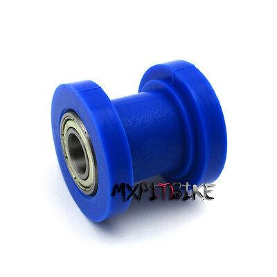 Blue 10mm Chain Roller Slider Tensioner Wheel Guide Pit Dirt Mini Bike Moto ATV