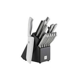 SALT 15-Piece Stainless Steel Knife Block in Black