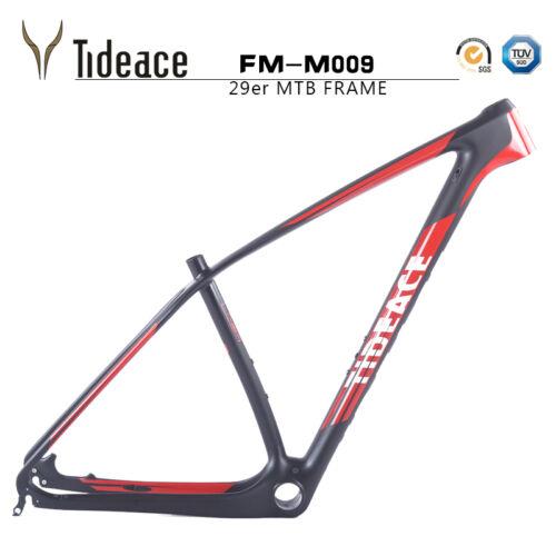 aero super light carbon fiber mountain bike frames 29er tideace carbon mtb frame - Mtb Frames