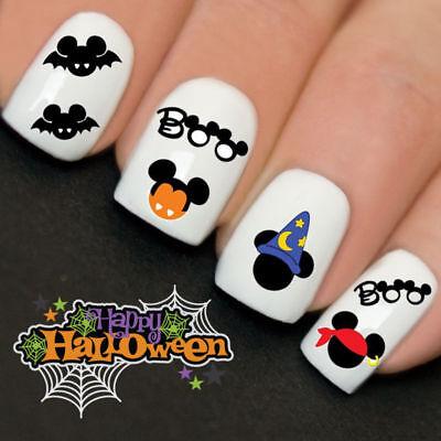 Disney Halloween Mickey Boo Mouse Nail Art Water Transfer Decal Wraps Y758](Disney Halloween Art)