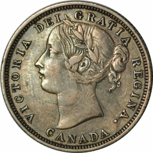 1858 Canada TWENTY CENTS - Bold XF - One Year Issue Coin! - c216uhnct