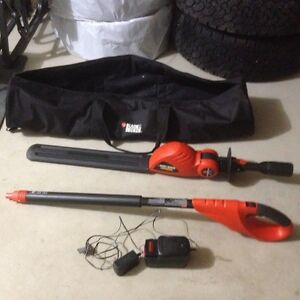 Dlack and Decker cordless pole hedge trimmer