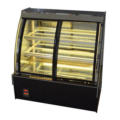 Display Case Refrigerator Cake Showcase Bakery Cabinet 39.2-50 Commercial220v