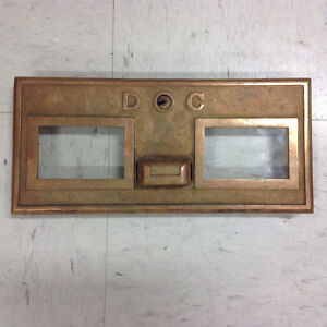 Antique brass post office drawer front