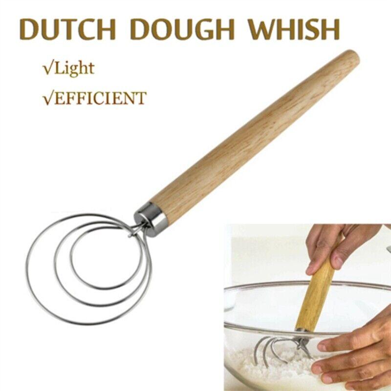 Danish Dough Whisk Stainless Steel Dutch Dough Hand Mixer Whisk