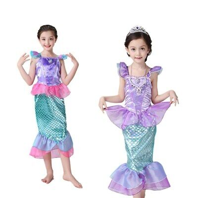Girls Kid mermaid Princess Ariel Cosplay Costume Halloween Party Dress Xmas Gift](Princess Ariel Halloween Costume)