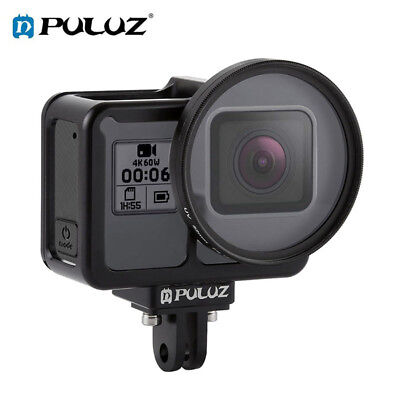Protective Cage (PULUZ Housing Shell CNC Aluminum Alloy Protective Cage +UV Lens for GoPro HERO7  )
