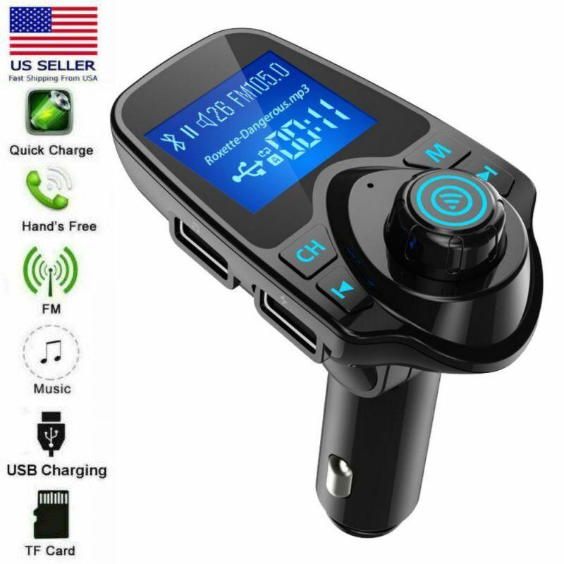 Bluetooth Car Lighter Cigarette Lighter USB Wireless FM Transmitter Car Charger