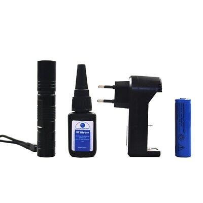 UV-Klebe-Set Glas Scheibe Kleber Reparatur UV Licht Lampe 20g MW ()