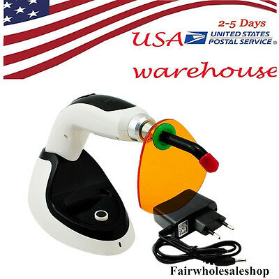 Wireless Cordless Led Dental Curing Light Lamp 10w 2000mw Teeth Whitening Usa