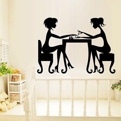 Wall Decals Beauty Hair Salon Nail Art Manicure Vinyl Sticker Home Decor  - Salon Decorations