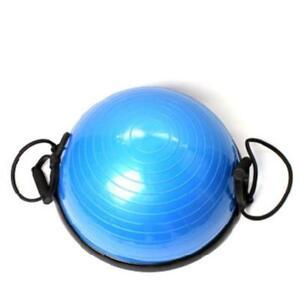Bosu Ball Balance Trainer Yoga Fitness Strength Exercise Workout w/Pump Gym Blue 220032