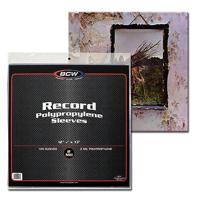 100X Bcw 33 1 3 Rpm 2 Mil Outer Sleeves Archival Poly Bags For Record Albums
