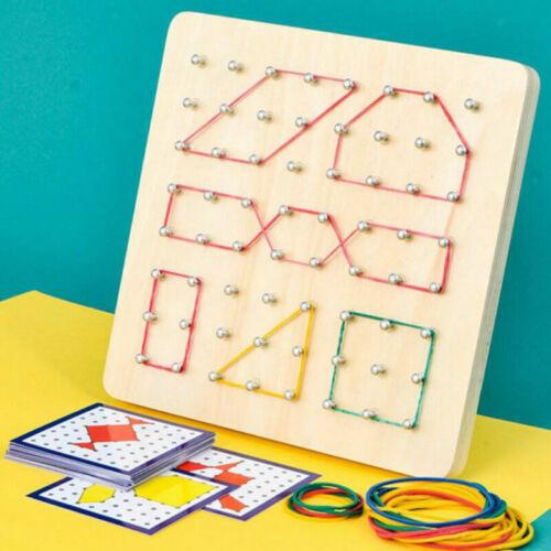 Holz Geoboard Mathematische Grafische Array Block Pädagogisches Spielzeug DE
