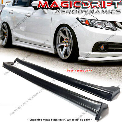 Civic 4dr 4 Door Sedan (For 12-15 Honda Civic 9th GEN 4Dr 4-Door Sedans JDM Mugen Style Side Skirts)