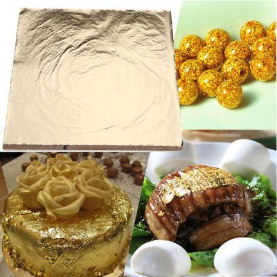 Gold Foil Sheets (100sheets Imitation Gold Silver Copper Leaf Foil Paper Gilding Art Craft)